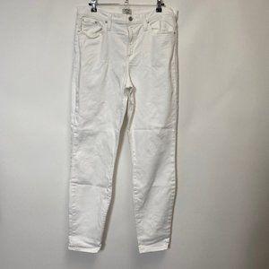 J.Crew High Rise Skinny White Jeans Sz 32